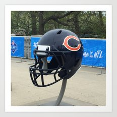 Bears Helmet Color Photo Art Print