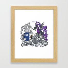 Dragon telephone box Framed Art Print