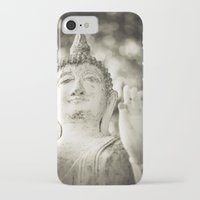 buddhism iPhone & iPod Cases featuring Buddha in Sukhothai by Maria Heyens