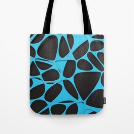Blue on black, organic abstraction Tote Bag