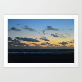 Sunset at Camber Sands Art Print
