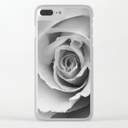 Flower Photography Double Headed Rose | Black and White | black-and-white | bw Clear iPhone Case