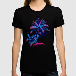 Snake Palms - Blue Pink T-shirt