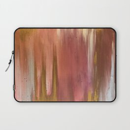Blush with Gold Abstract Laptop Sleeve