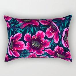 Manuka Floral Print Rectangular Pillow