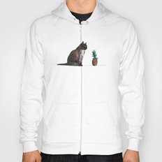 cat and pineapple Hoody