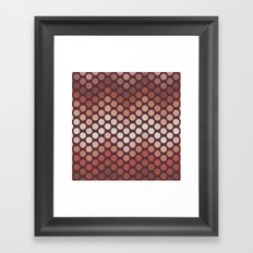 Dot Chevron: Earth tones  Framed Art Print