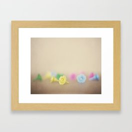 Plastic Flowers Framed Art Print