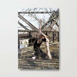 Urban Yoga Metal Print