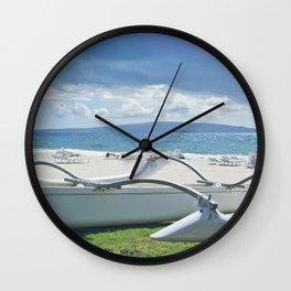 Polo Beach Wall Clock