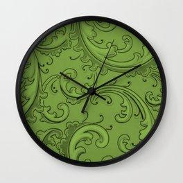 Greenery Swirls Wall Clock