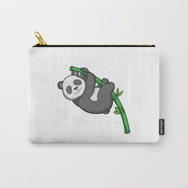 Panda with Bamboo Carry-All Pouch
