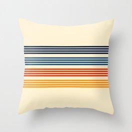 Kenshin - Classic Old School Retro Stripes Throw Pillow