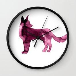 Shepherd Watercolor Wash Pink Wall Clock