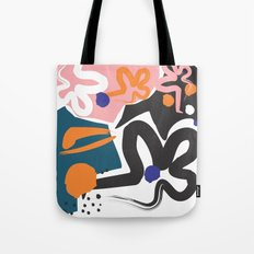 Nature #Pink #Black Tote Bag