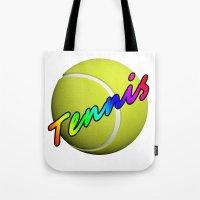 tennis Tote Bags featuring Tennis by Jimbob1979