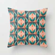 Low Poly Desert Bloom Throw Pillow