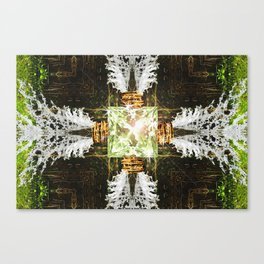 Embrace Green Canvas Print
