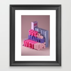 Typographic Insults #2 Framed Art Print