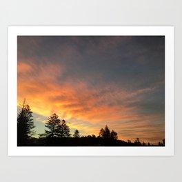 Beautiful orange/yellow sunset Art Print