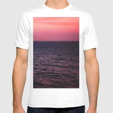 Pretty Pink Sunset Mens Fitted Tee White MEDIUM