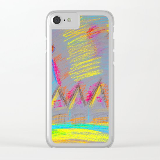 Colorful Village | Kids Painting Clear iPhone Case
