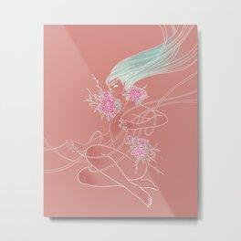 Flowergirl 03 - Peony Metal Print