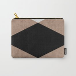 natural, cream and black triangles Carry-All Pouch