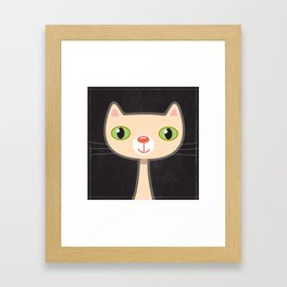 Green Eyes Kitty Framed Art Print
