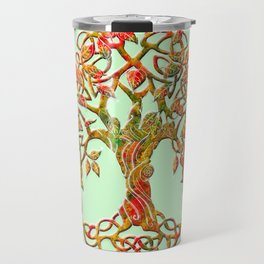 Tree of Life Orange Travel Mug