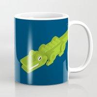 crocodile Mugs featuring Crocodile by Virkelyst