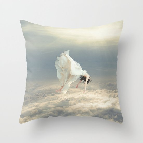 Free Falling Dream Throw Pillow