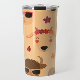 animal head pattern Travel Mug