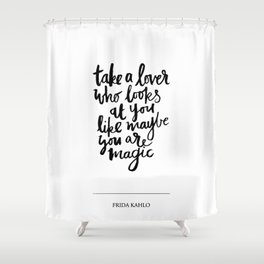 take a lover Shower Curtain