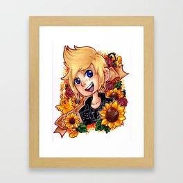 Prompto in Yellow Framed Art Print