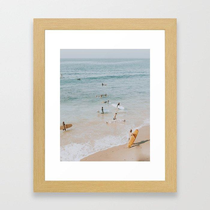 lets surf iii Framed Art Print