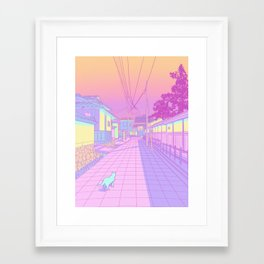 Kyoto Cats Framed Art Print
