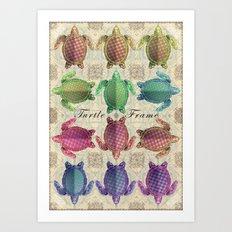 Turtle Frame Art Print