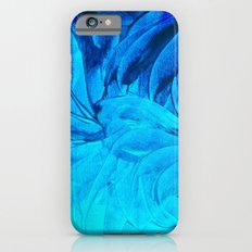 PETAL PINWHEELS, Revisited -  Indigo Royal Blue Turquoise Floral Pattern Swirls Ocean Water Flowers iPhone 6s Slim Case