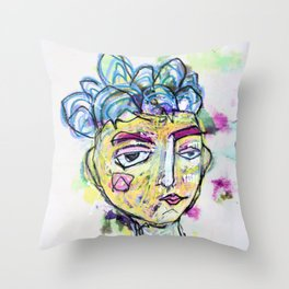 She is imperfect, but she tries Throw Pillow