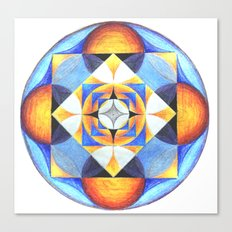 Solar Kaleidoscope (ANALOG zine) Canvas Print