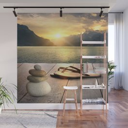 Zen Sunset Wall Mural