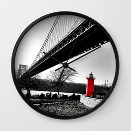 The Little Red Lighthouse - George Washington Bridge NYC Wall Clock