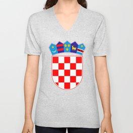 Croatia Coat of Arms Unisex V-Neck
