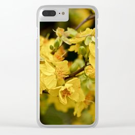 GOLDEN APRICOT Clear iPhone Case