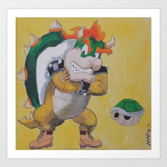 "King ""Timbs"" Koopa Art Print"