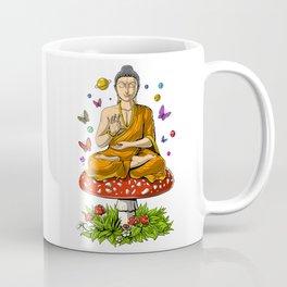 Buddha Magic Mushrooms Meditation Coffee Mug