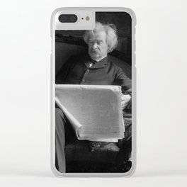 Mark Twain - American Author and Humorist Clear iPhone Case