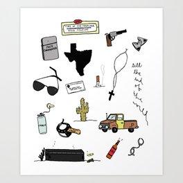Preacher Flash Sheet Art Print