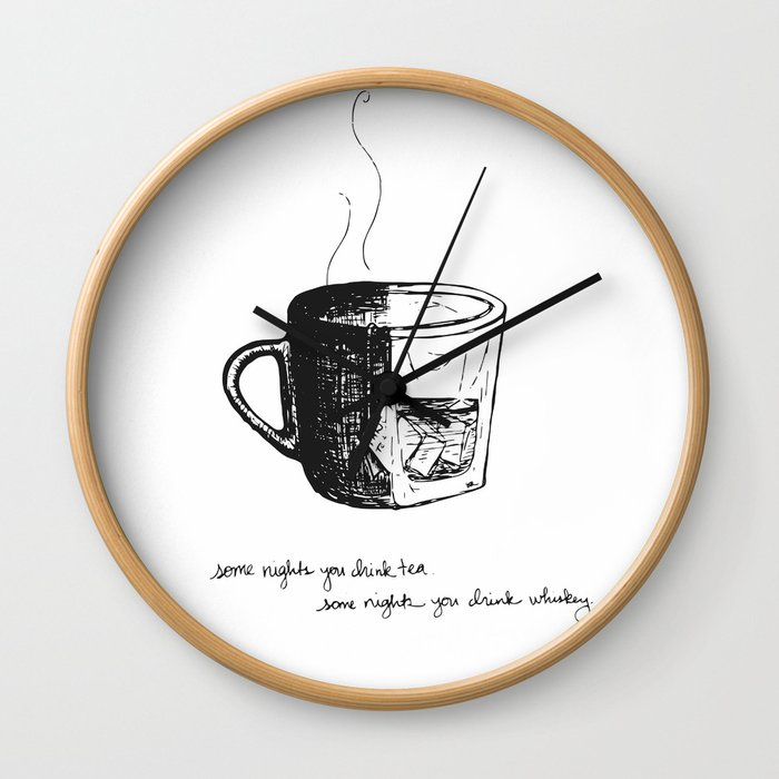 Tea or Whiskey Wall Clock